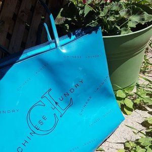 Chinese Laundry Vibrant Turquoise Tote